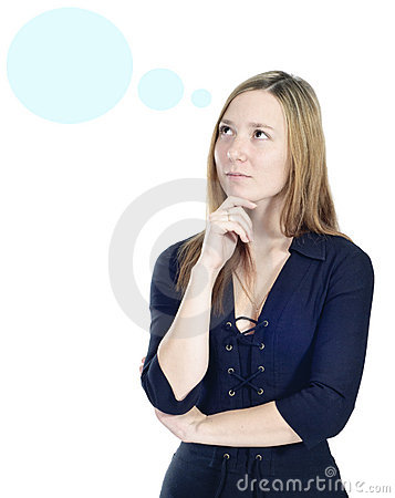 Business thinking woman portrait