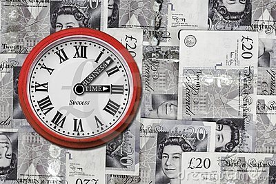 Business time clock Editorial Stock Image
