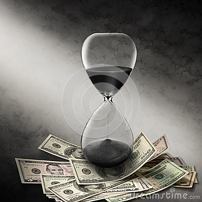 Business Time Money Hourglass