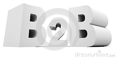Business to business b2b white concept text