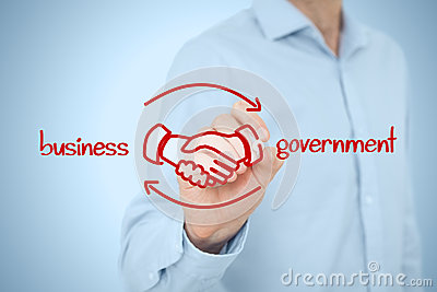 Business to government B2G Stock Photo