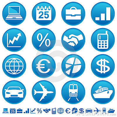 Free Business & Transport Icons Royalty Free Stock Image - 7042056