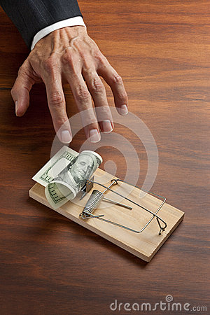 Free Business Trap Money Ethics Bribe Stock Photography - 29326922