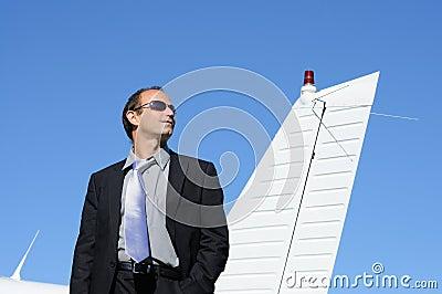 Business travel, businessman