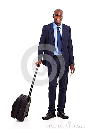 Business traveler portrait
