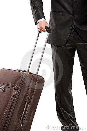 Free Business Traveller With A Suitcase Royalty Free Stock Images - 13878769