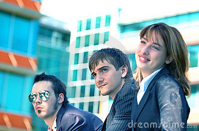 Business Trio 3 Blue Tint