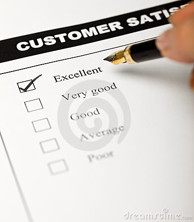 Business values - satisfied customers