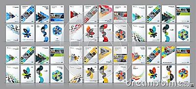 Business vector mega set. Brochure template layout, cover design Vector Illustration
