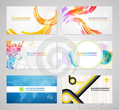 Free Business Visiting Card Collection Royalty Free Stock Image - 21778036