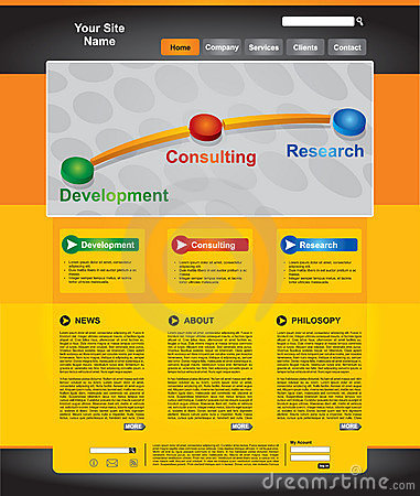 Business Web Page Template Set Stock Photos - Image: 18894533