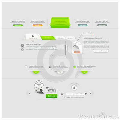 Free Business Web Site Template Design Menu Elements With Icons Stock Photography - 33042422