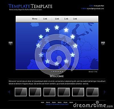Business website design template - editable layout