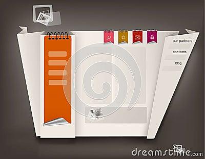 Business website design template. Vector