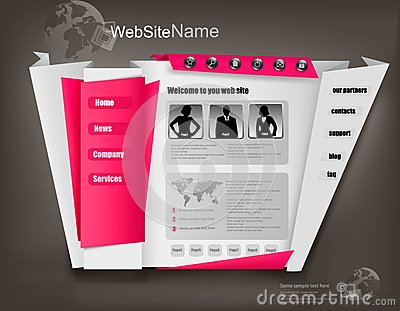 Business website design template. Vector