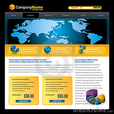 Free Business Website Template Stock Photo - 9214710