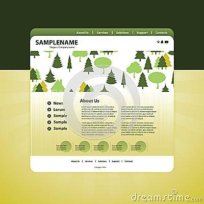 Business website template in vector format