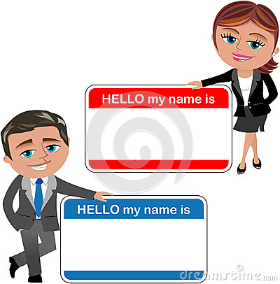 Free Business Woman And Man Introducing Theirself Stock Image - 35484471