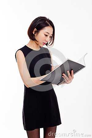 Free Business Woman And Note Book Stock Photos - 28506053