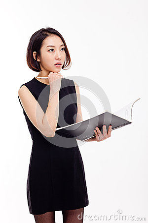 Free Business Woman And Note Book Royalty Free Stock Photography - 28506077