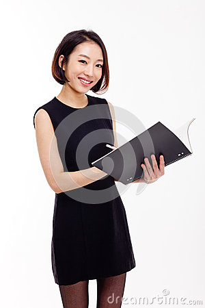Free Business Woman And Note Book Royalty Free Stock Photos - 28506088