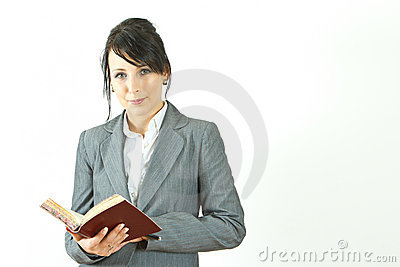 Business woman with appointment book