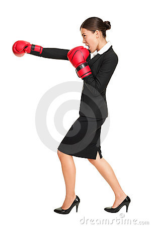 Free Business Woman Boxing Stock Photos - 20729133
