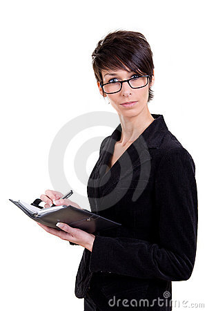 Business woman with calendar