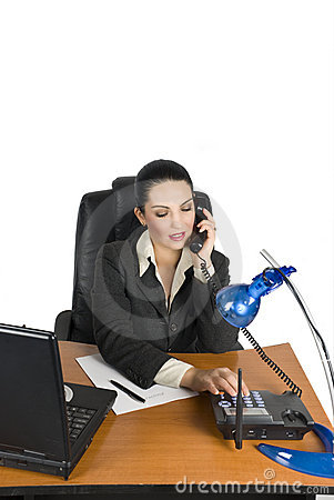 Free Business Woman Calling Stock Images - 6967154