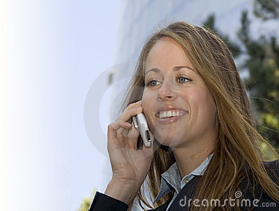 Business Woman - On a cell phone