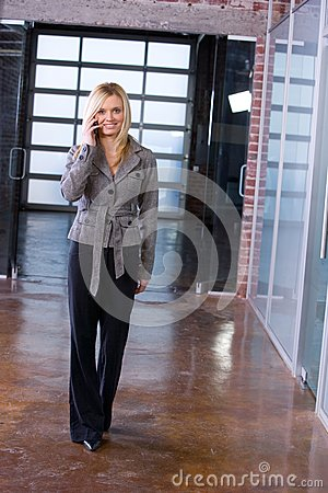 Business woman on a cell phone