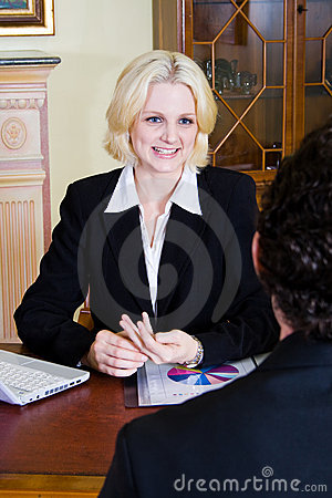 Business woman and client