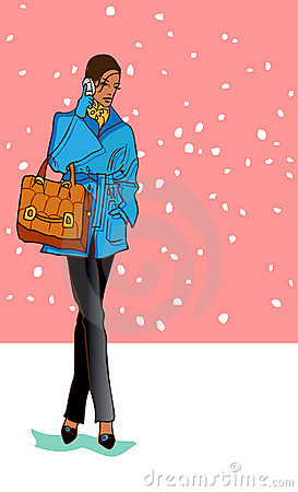 Business woman in coat