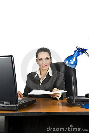 Business woman with contract