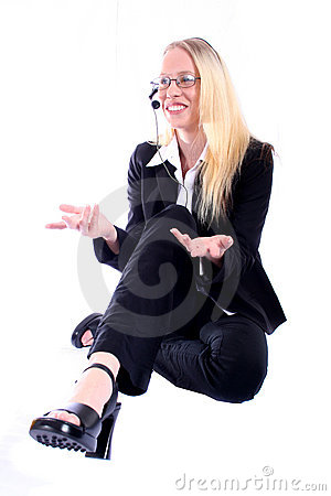Free Business Woman - Corporate Spoksewoman Stock Image - 681161