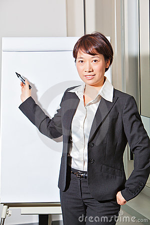 Business woman doing presentation