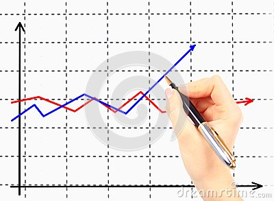 Business woman drawing an organization chart on a white board