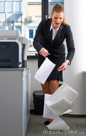 Free Business Woman Dropping Documents Royalty Free Stock Photography - 16735027