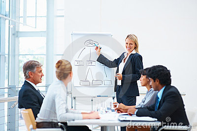 Business woman explaining during a meeting