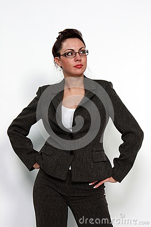 Business woman with eyeglasses