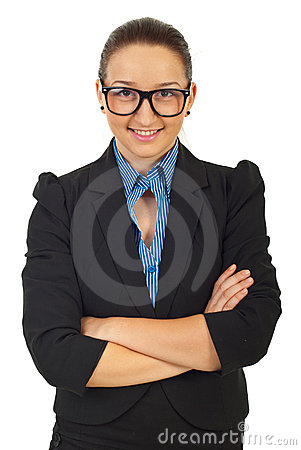 Business Woman With Eyeglasses Royalty Free Stock Images - Image: 20162179