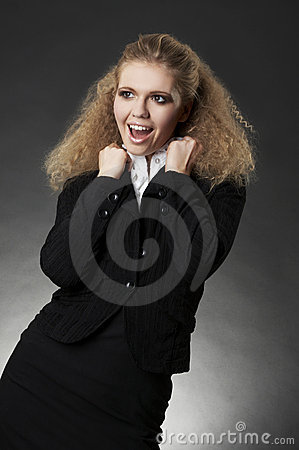 Business woman with facial expression