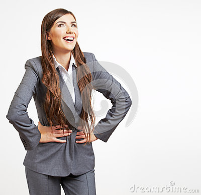 Business woman fashion style isolated portrait.