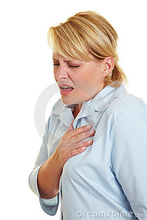 Free Business Woman Feeling Heart Pain Royalty Free Stock Images - 21154859