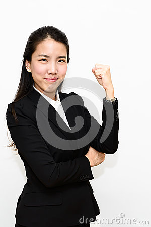 Business woman fighting