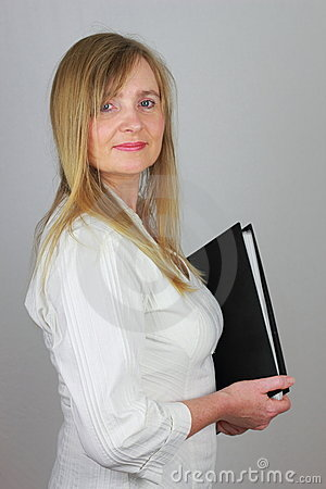 Personal Assistant with file folder