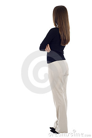 Free Business Woman From The Back Royalty Free Stock Photos - 14128058