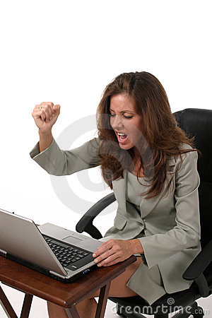 Business Woman Frustrated 2