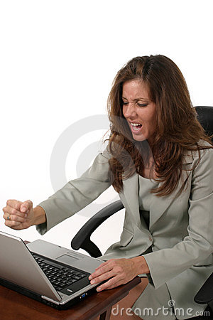 Business Woman Frustrated 3