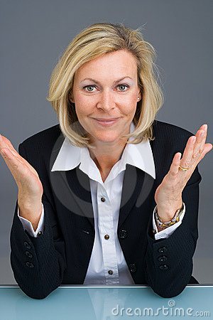 Free Business Woman Gesturing Stock Photo - 2169310
